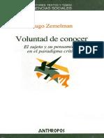 Zemelman Hugo. Voluntad De Conocer.pdf