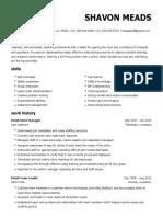 shavon meads resume