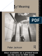 Maps of Meaning an Introduction to Cultural Geography Peter Jackson