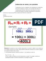 3 Formas de Calcular Resistencias en Serie y en Paralelo