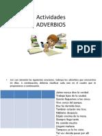 Actividades ADVERBIOS