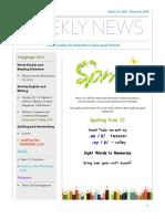 weekly newsletter-mar 26 -mar 30