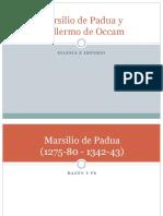 Marsilio de Padua y Guillermo de Occam