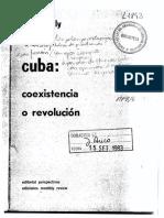 Adolfo Gilly, Cuba. Coexistencia o Revolución (OCRed)