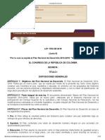 ley 1753 de 2015
