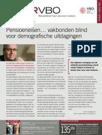 Pensioeneisen... vakbonden blind voor demografische uitdagingen, Infor VBO, 16 september 2010