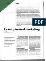 Miopia en El Marketing