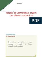 Noções de Cosmologia e Nucleossíntese