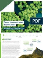 BID Informe de Sostenibilidad 2017