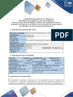 Guía de Actividades y Rúbrica de Evaluación - Fase 3 Preparar y Presentar Un Informe Con La Solución de Cada Uno de Los Modelos de Inventario