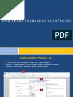 Tutorial Editoração Trabalho Acadêmico
