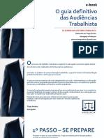 E-book o Guia Definitivo Das Audiências Trabalhista