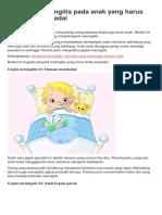 8 Gejala Meningitis Pada Anak Yang Harus Parents Waspadai