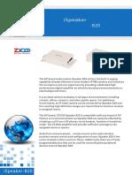 iSpeaker B20 Datasheet