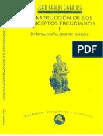 08.- Cosentino, J.C. Construcción de Los Conceptos Freudianos I. Defensa, Sueño, Aparato Psíquico. (Manantial. 109p)