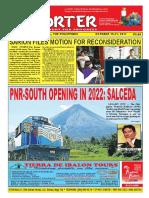 Bikol Reporter October 15 - 21, 2017 Issue