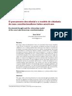 O pensamento descolonial e o modelo de cidadania do novo constitucionalismo latino americano. Enzo Bello.pdf