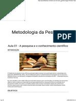 Metodologia Da Pesquisa_Aula01
