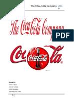 Organizational Structure of The Coca-Cola Company