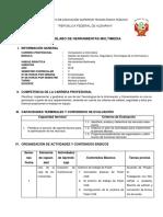 SILABO Organización y Adminstración Del Soporte Técnico