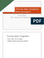 Analysis on Thomas Ades' Arcadiana