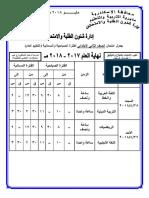 جدول امتحانات الاسكندرية نهاية العام ـ مايو2018