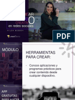 Como Crear Contenido Creativo en Redes Sociales Modulo 2