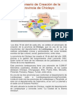 Aniversario de Creación de La Provincia de Chiclayo