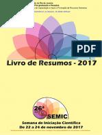 Livro de Resumos da 26ª SEMIC UERJ - 2017