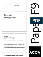ACCA F9 Financial Management Solved Past Papers