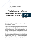 Trabajo Social y género