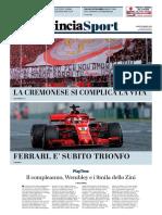 La Provincia Di Cremona 26-03-2018 - Sport
