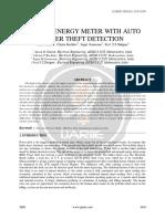 Prepaid Energy Meter With Auto Power Theft Detection Ijariie2608
