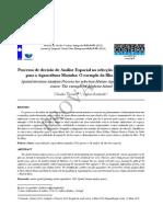 Artigo - Processo de decisão de Análise Espacial na selecção de áreas óptimas