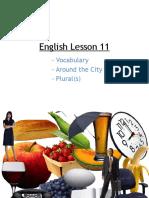 English Lesson 11