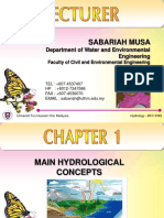 Chapter 1- Main Hydrological Concepts