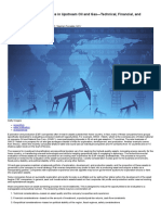 The Asset Evaluation Process in Upstream Oil and Gas—Technical, Financial, And Geopolitical Considerations