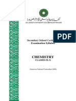 Agha Khan Board SSC Syllabus Chemistry