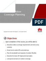 Outdoor Coverage WLAN Planning