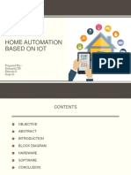 Iot Based on Home Automation Pptx