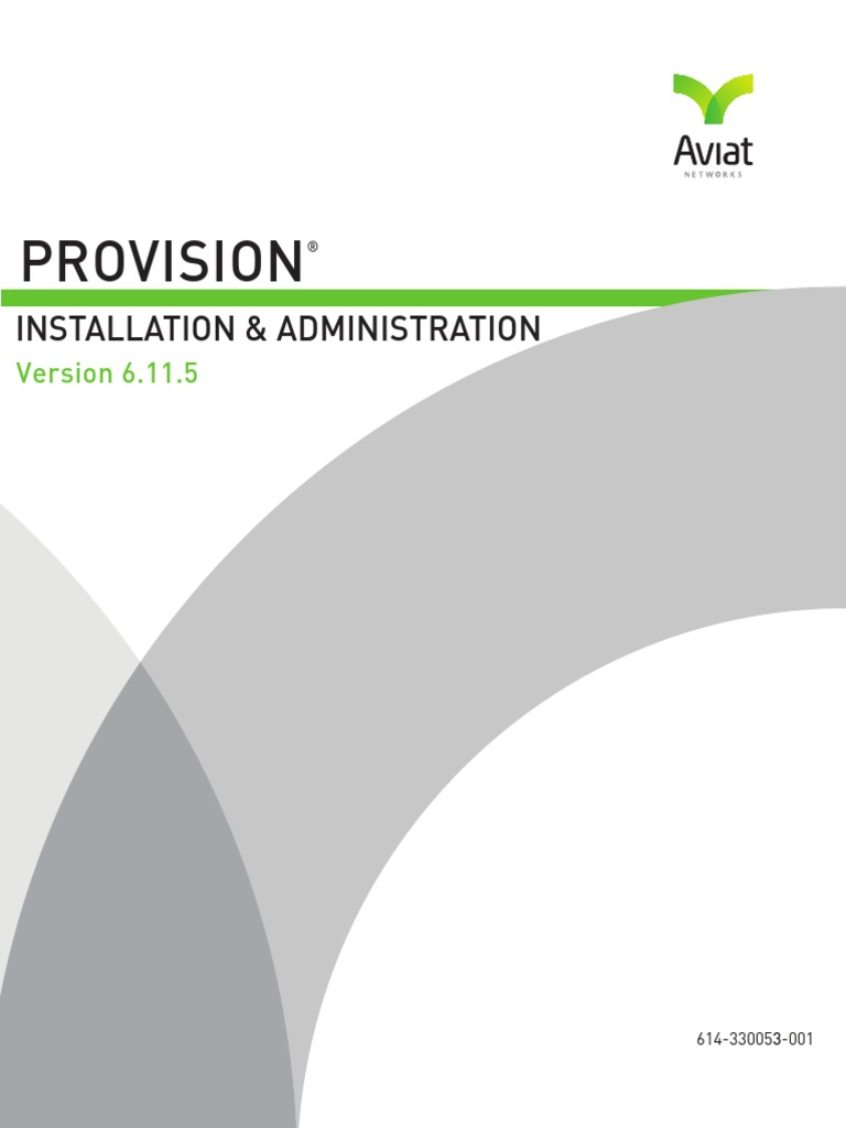 Installation and 5ProVision Administration Manual 6 11  | Server