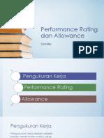 Performance Rating Dan Allowance