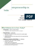 Social Entrepreneurship - Dr. K. Jeyakodi (11!03!18 FN)