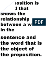 Preposition and Prepositional Phrase