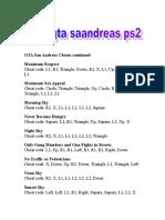 Code Gta Saandreas
