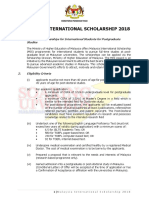 Malaysia International Scholarship 2018