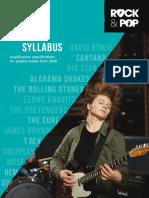 Trinity R&P Guitar Syllabus From 2018 (March 2018)