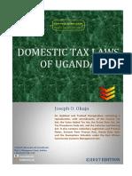Domestice Tax Laws of Uganda (2017 Edition)