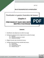 Chap 4 - Prévision Et Suivi Des Dépenses Du Maître d'Ouvrage