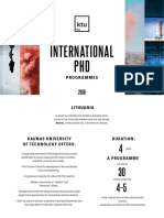 KTU PhD Studies 2018